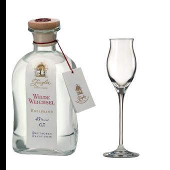 Ziegler Wilde Weichselschnaps 43%vol. 0,7l + Gratis Edelbrand-Glas